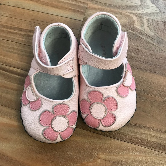 Pediped shoes early walker pink with flower girl poshmark pediped early walker pink with flower girl shoes mightylinksfo